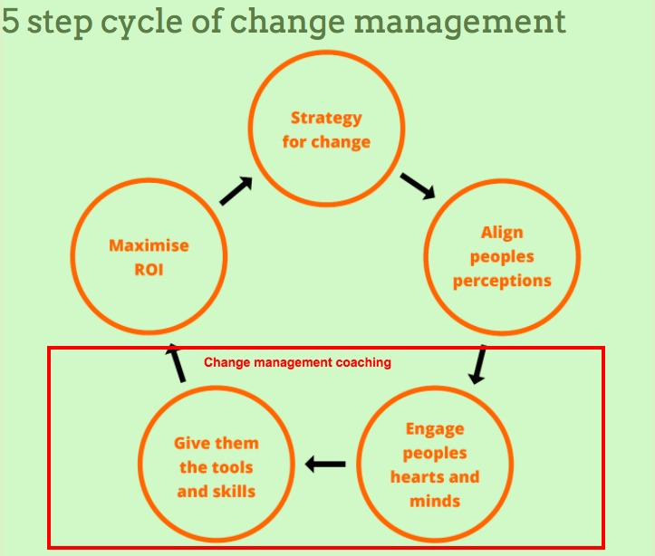 Change management coaching Three steps to become effective