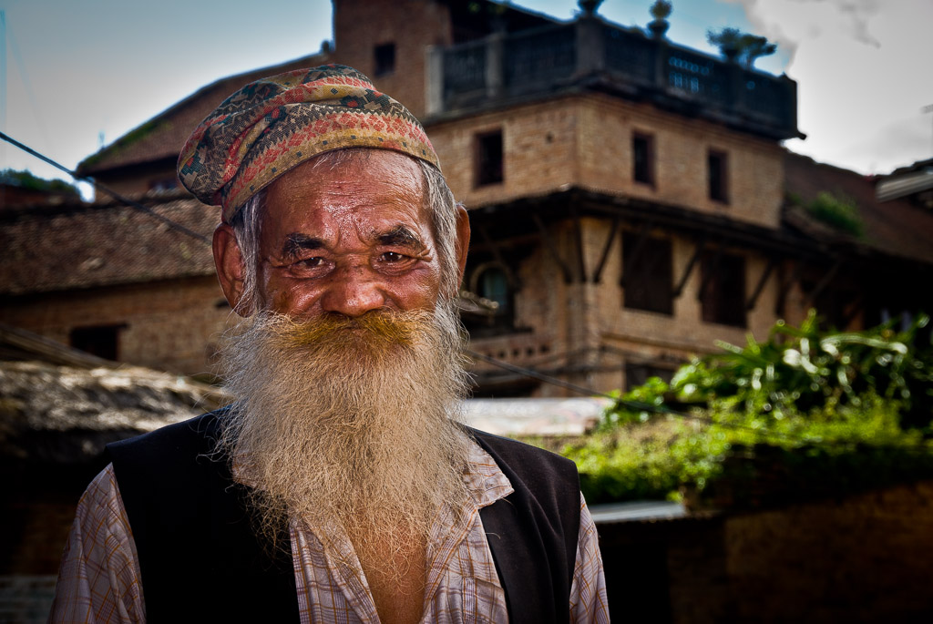 Bearded man Bhaktapur Nepal