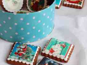Christmas honey cookies decorated with edible prints - daniscookings.wordpress.com