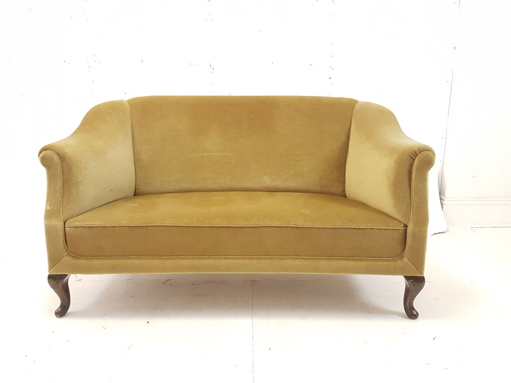 Classic Sofas For Sale Uk Danish 1940s Sofa | 2 Seater | Gold Draylon Upholstery