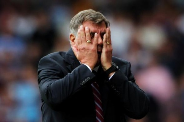 """Allardyce adopts that standard West Ham FA Cup tie pose - Image taken from the article """"The magic of the FA Cup"""" by DannyUK.com"""