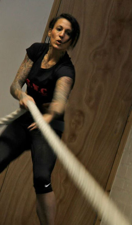 For My Sunday Photo - MissLouiseKay in action in a strongwoman contest this week.