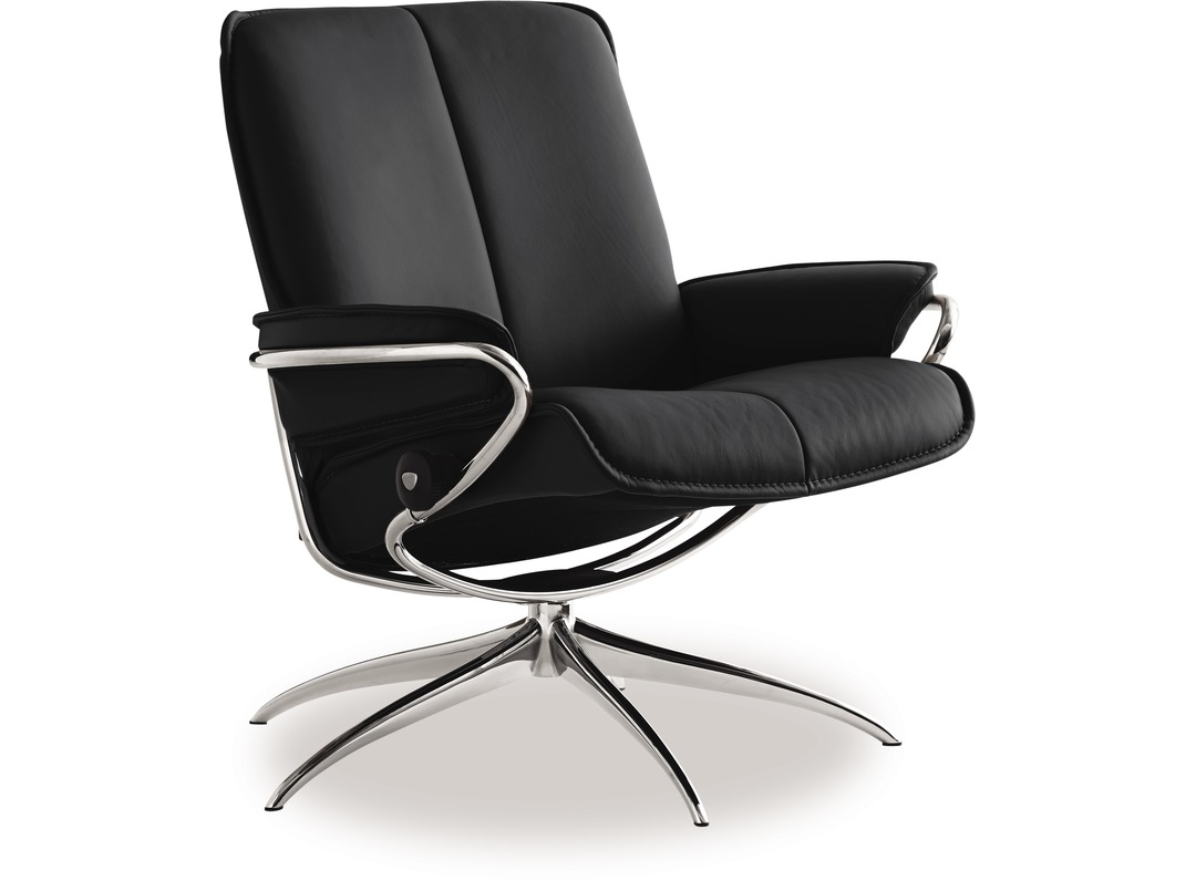 Stressless-world.com Stressless City Leather Recliner Low Back Star Base