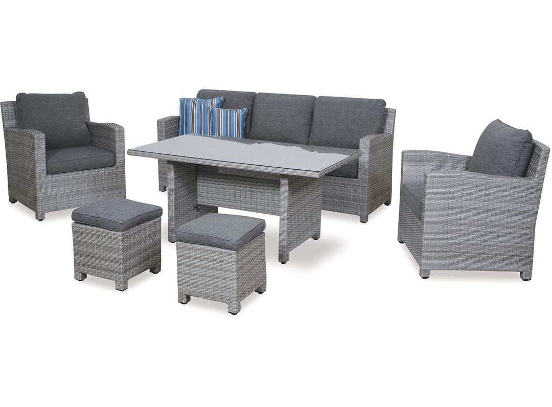 Outdoor Lounge Nz Baja 6 Pce Low Dining Outdoor Lounge Suite