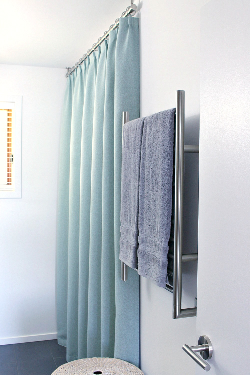 Mounting Curtain Rods Bathroom Update Ceiling Mounted Shower Curtain Rod Turquoise