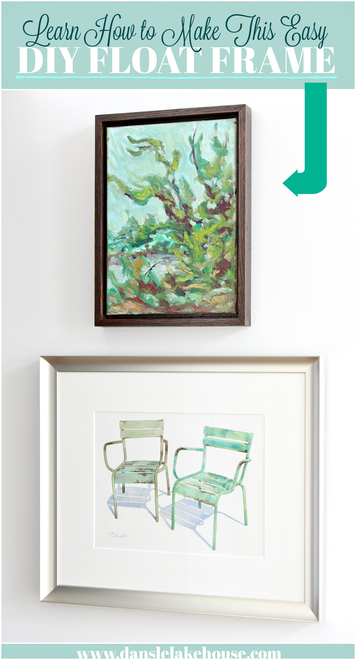 How To Frame Pictures Easy Diy Floating Frame Tutorial Learn How To Frame Your Art For