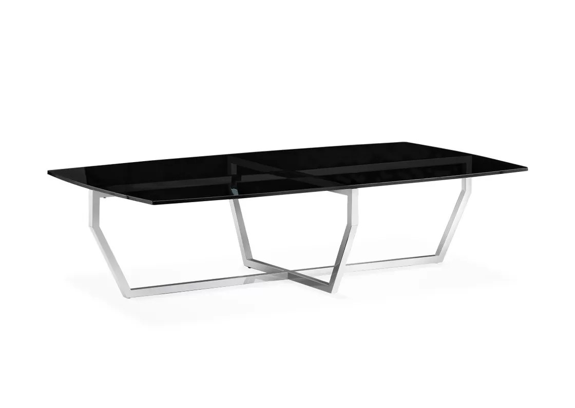 Square Glass End Tables Modern Rectangle Glass Coffee Table Tempered Glass End