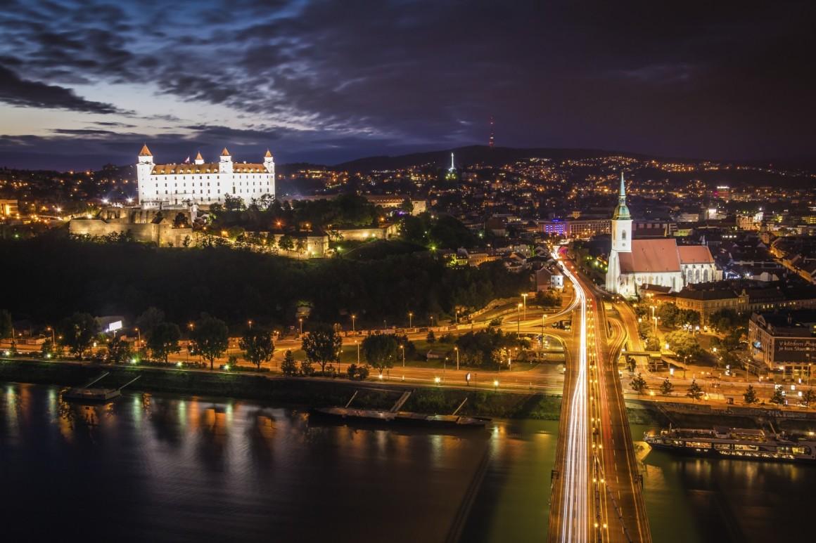 Austria Wallpaper Hd Bratislava Night Life Danube On Thames