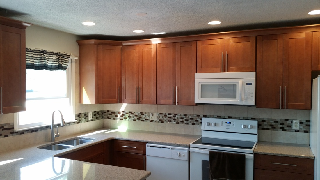 Wellington Ivory Kitchen Cabinets Galaxy Pecan - Danvoy Group Llc | Wood Entry Doors Nj