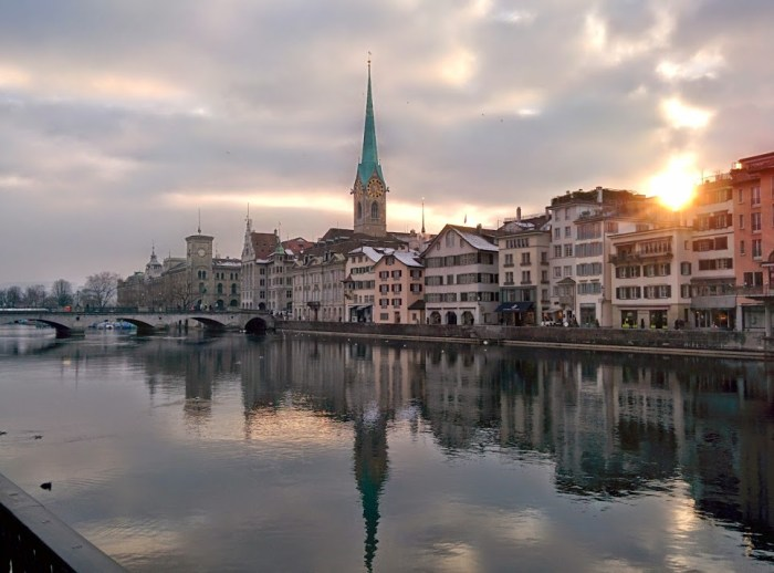 Zurich sunset