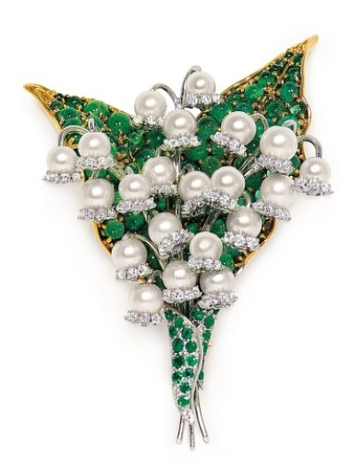 Verdura-Lily-of-the-Valley-Brooch