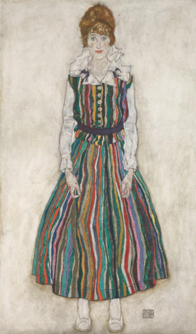 Egon-Schiele-Portrait-of-the-Artists-Wife-1915