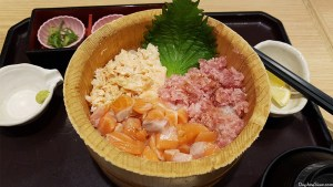 A bowl of sashimi don in one of the malls