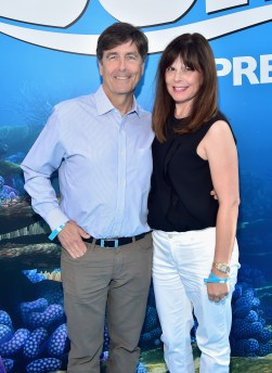 HOLLYWOOD, CA - JUNE 08: Composer Thomas Newman (L) and Ann Marie Zirbes attend The World Premiere of Disney-Pixar's FINDING DORY on Wednesday, June 8, 2016 in Hollywood, California. (Photo by Alberto E. Rodriguez/Getty Images for Disney) *** Local Caption *** Thomas Newman; Ann Marie Zirbes
