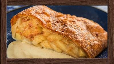 Geek Eats Disney Recipe: Apple Strudel - Epcot's Biergarten Restaurant
