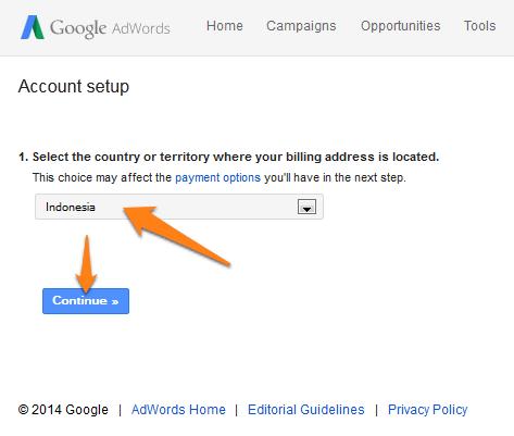 Menyetel pembayaran billing google adwords1