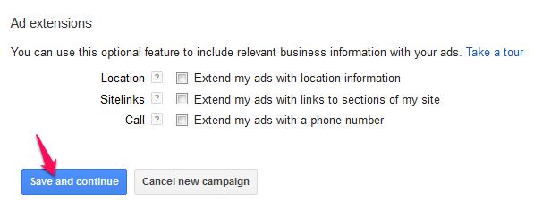 Buat campaign adwords