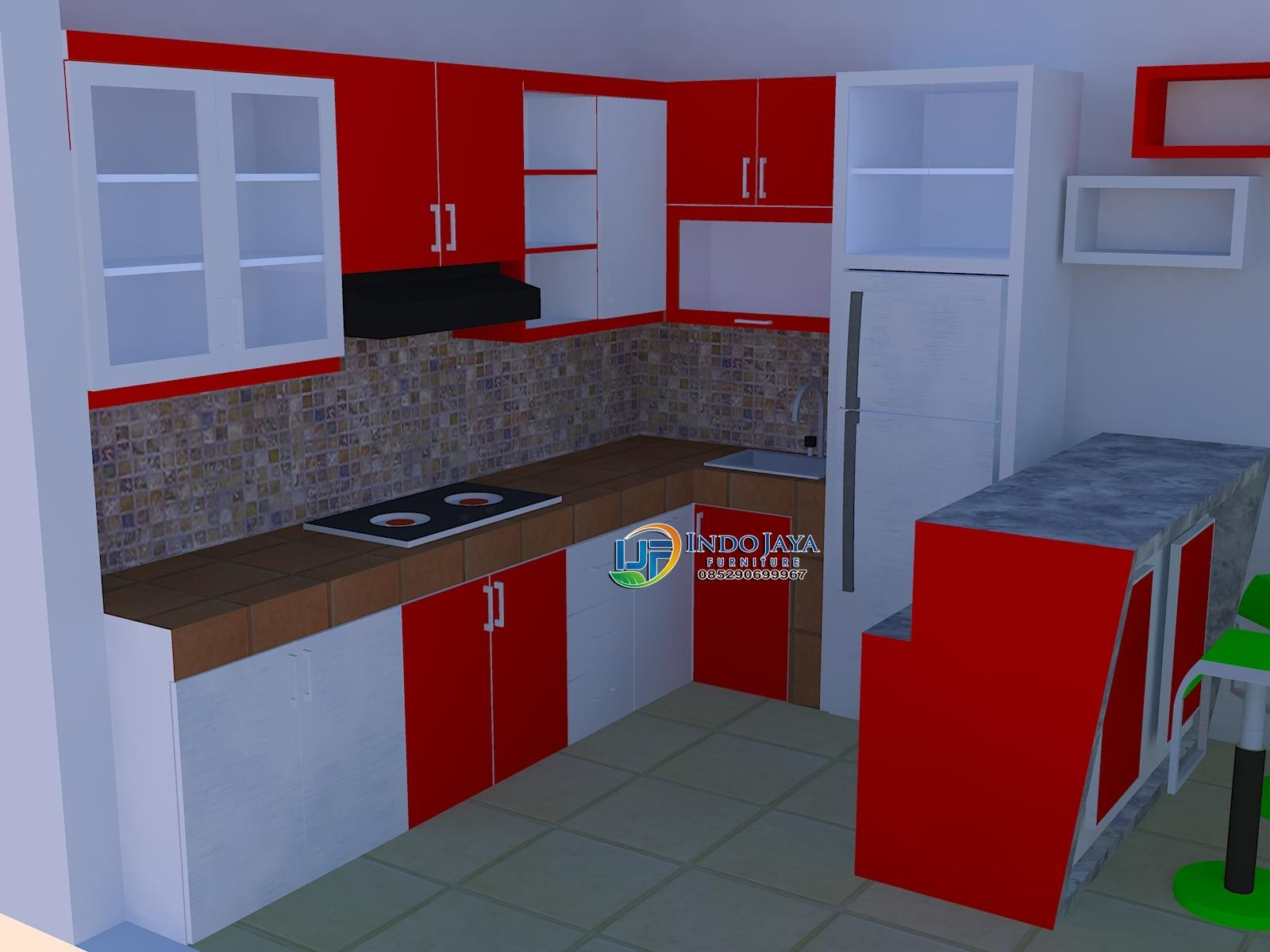 Dapur Moderen Meja Kompor Modern Furniture Ideas