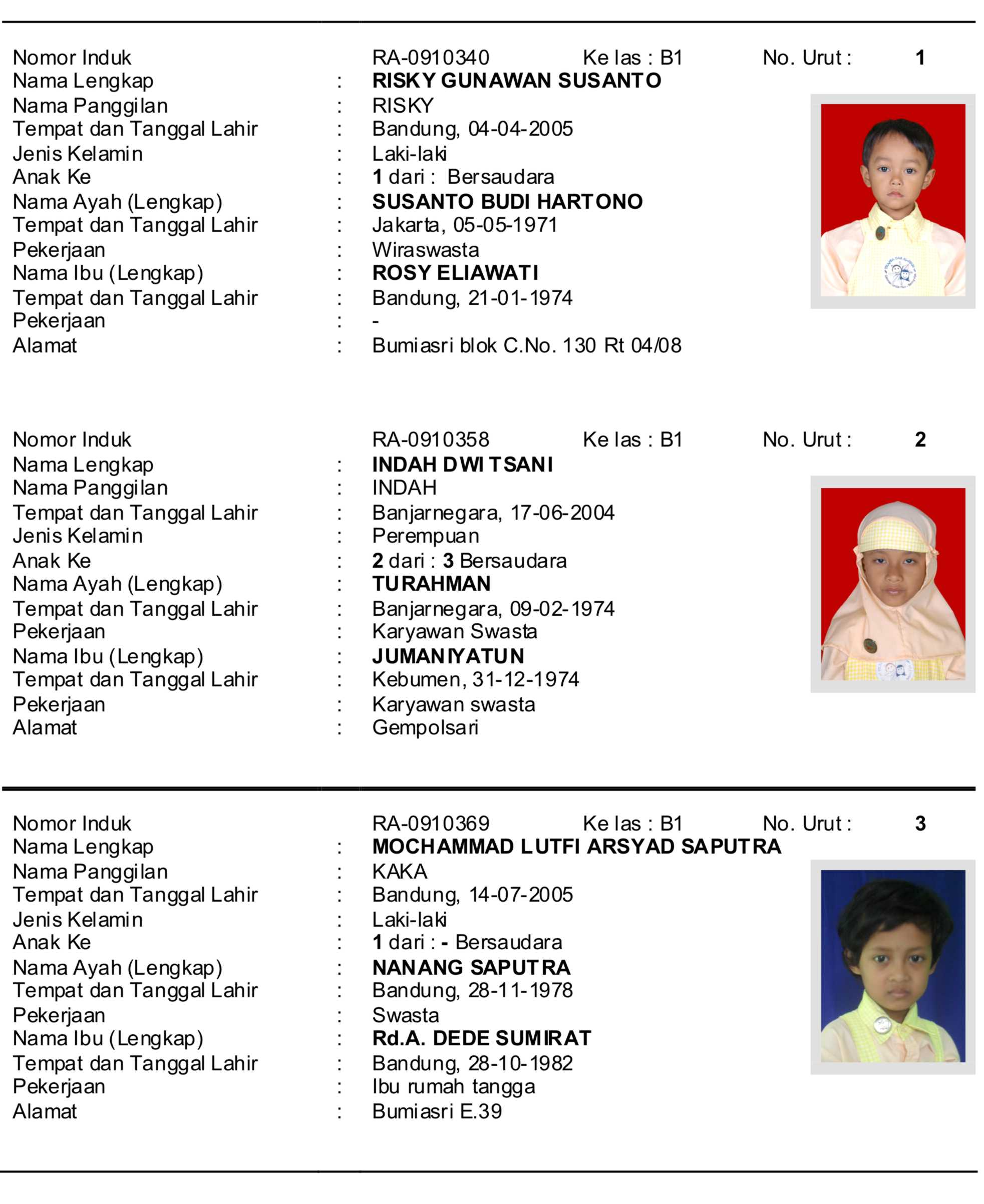 Free Online Calendar Convenient Calendar Biodata Siswa Ra Dar Al Fikri Lil Ummah