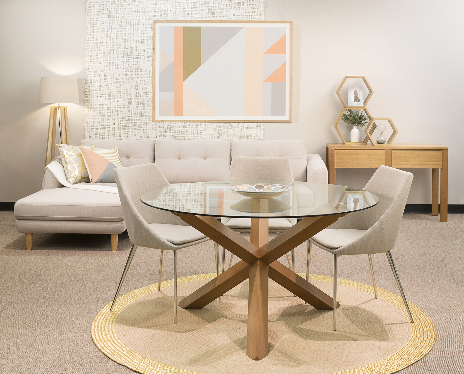 Modern Round Glass Dining Table Round Glass Dining Table A Modern Practical Option