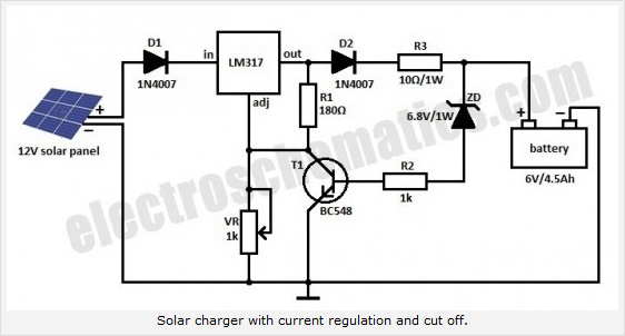solar panel electrical schematic