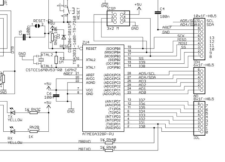 arduino uno partial schematic