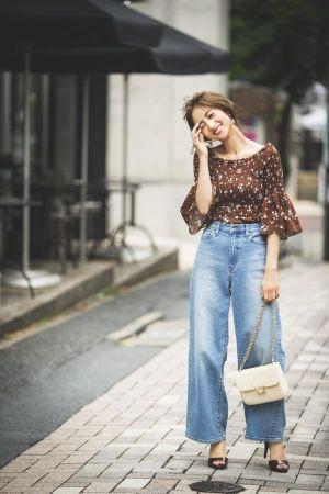 デニムのワイドパンツで魅せる♡カジュアルかわいい最旬コーデ11選