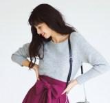 万能グレーニットの冬コーデ8選|パンツ&スカートの着こなし