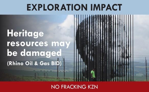 Heritage Resourcs may be damaged (Rhino BID Impact)