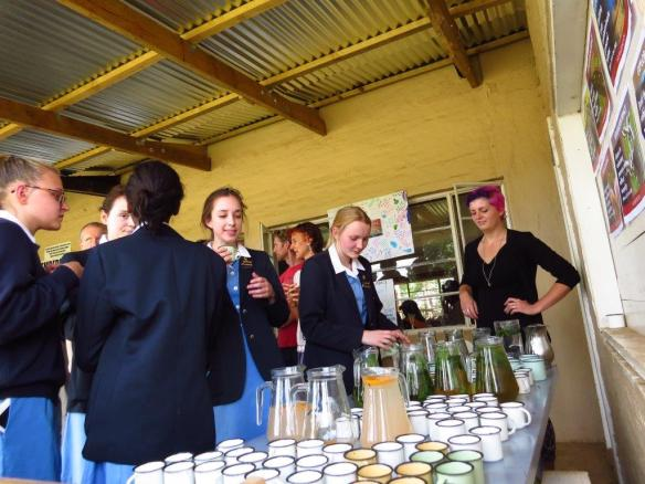 Dargle Conservancy provides locally made mint cordial at the Rhino meetin