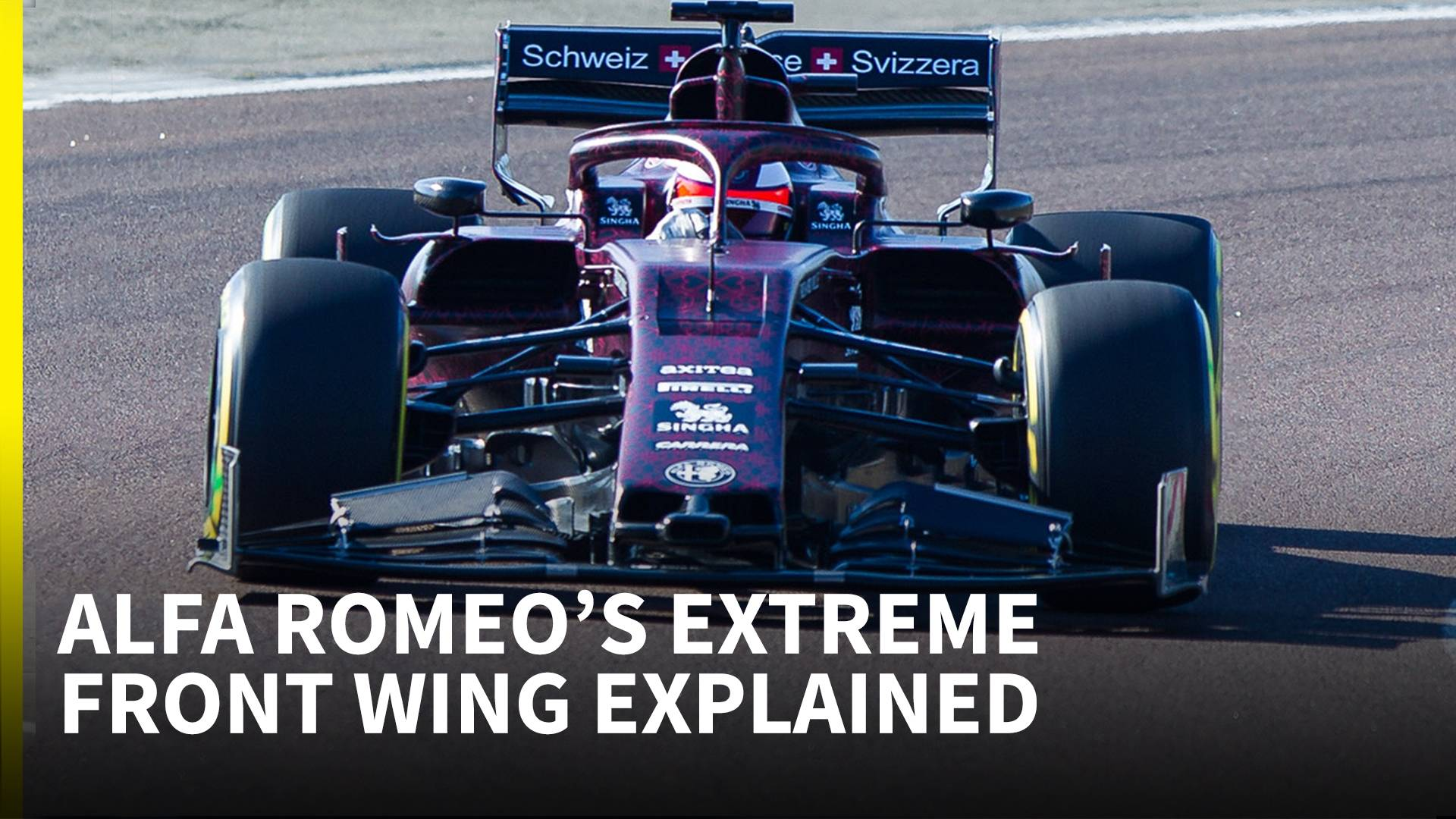 Editor Video Libre The Strangest 2019 Front Wing We Ve Seen So Far Alfa Romeo F1 Technical Analysis