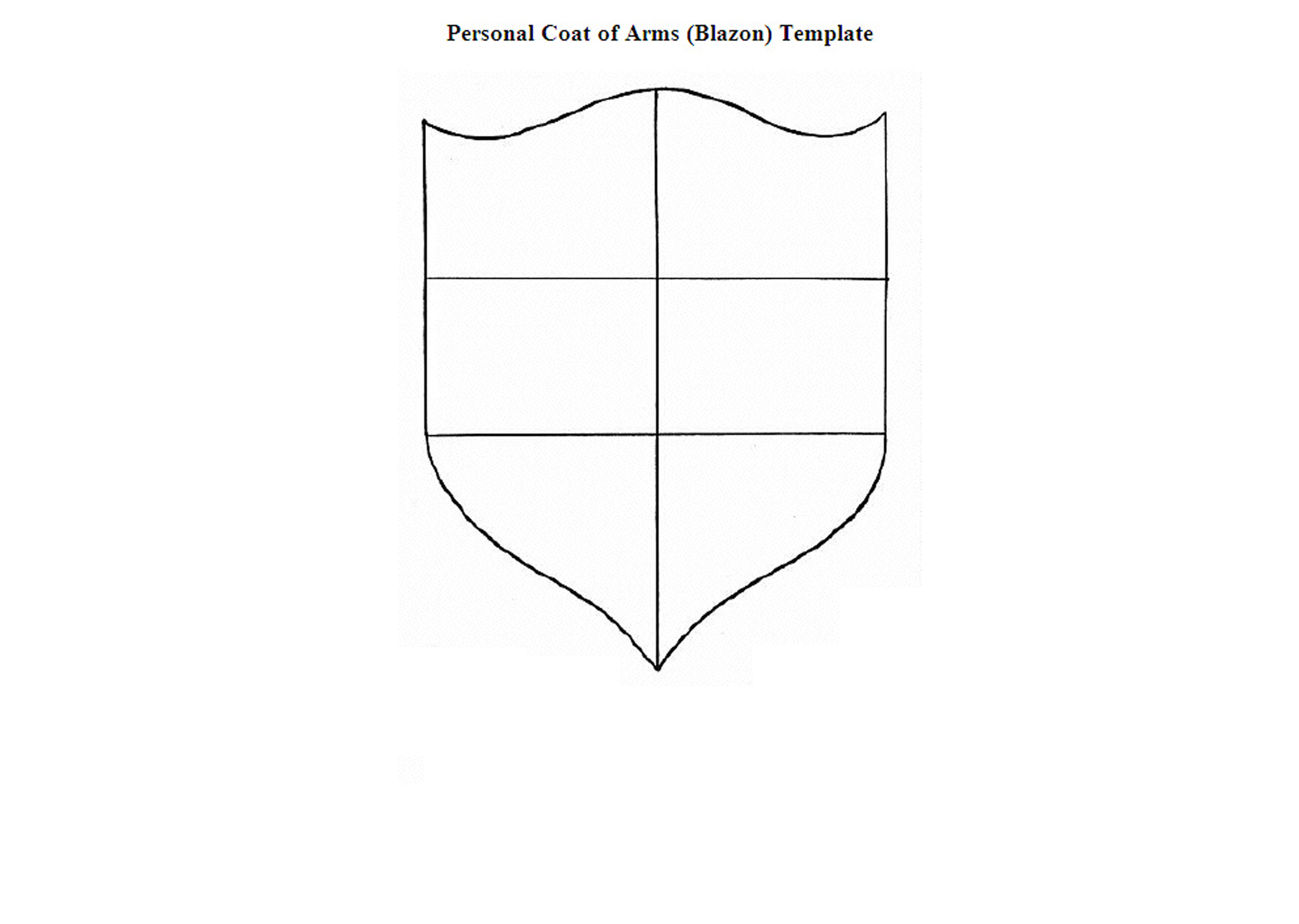 template for coat of arms costumepartyrun