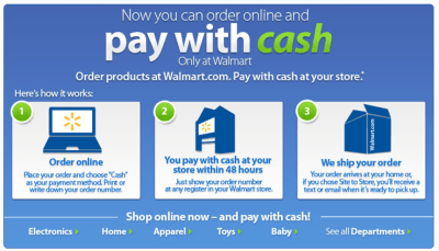 ** LOOKIE ** Now you can order online at Walmart.com and PAY CASH « Darlene Michaud