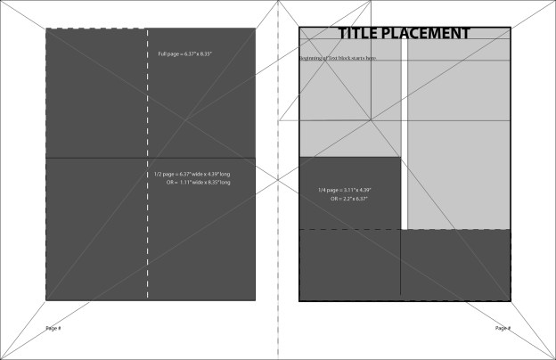 The medieval layout template created for Mythos Arcanum is phi-inspired.