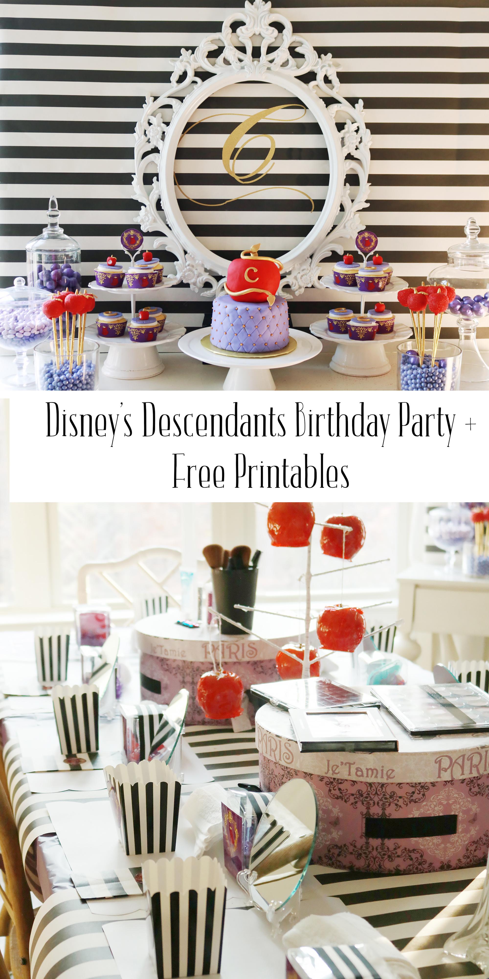 Descendants Birthday Party – Darleen Meier Jewelry