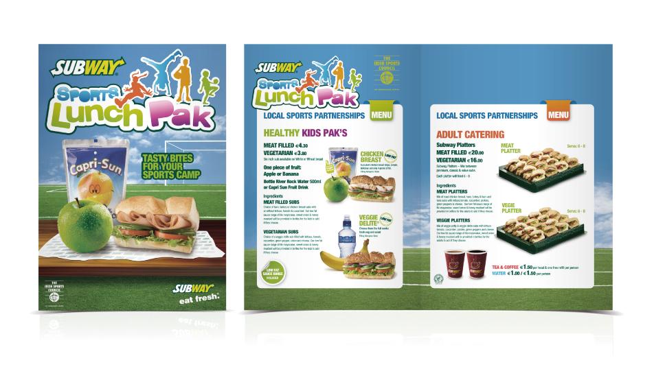 Subway Sports Lunch Pak \u2013 Brochure Design - Darragh Kerrigan Creative - sports brochure