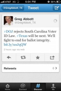 Greg Abbott Twitter Post