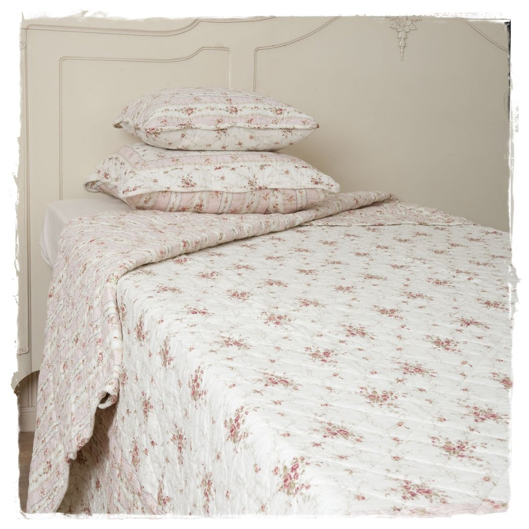 Tagesdecken Clayre Eef Sarah Rose Tagesdecke Quilt 140x220cm Clayre Eef Q100