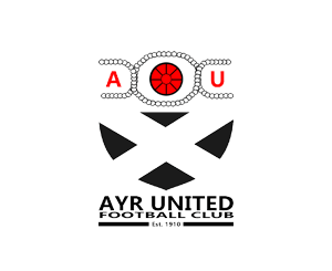 Ayr Utd redesigned badge - black shieldless version