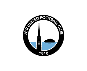 Ayr Utd redesigned badge - Ailsa Craig version