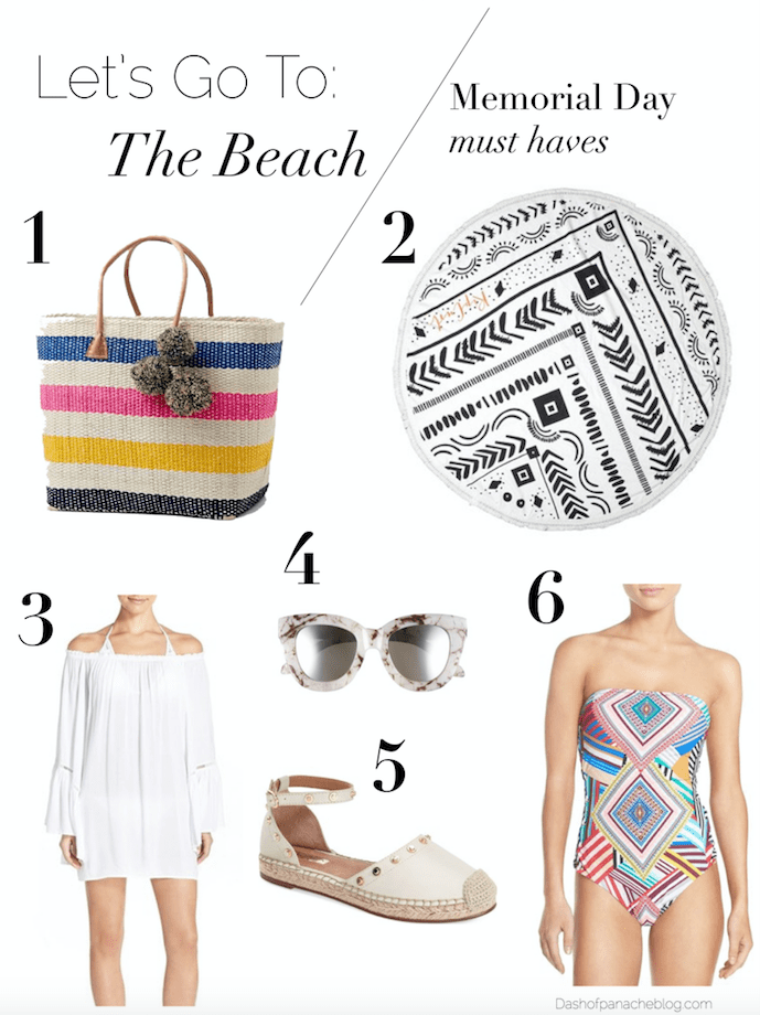 Packing list for Memorial Day Weekend