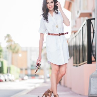 White Button-Down Dress