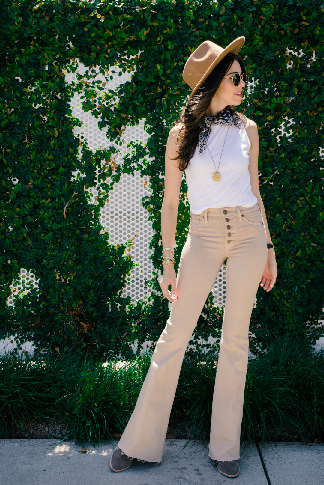 Jackie Roque styling Hudson Flare Jeans