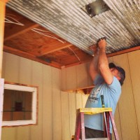 How To Install Corrugated Tin Ceiling  My MARKeting Journey