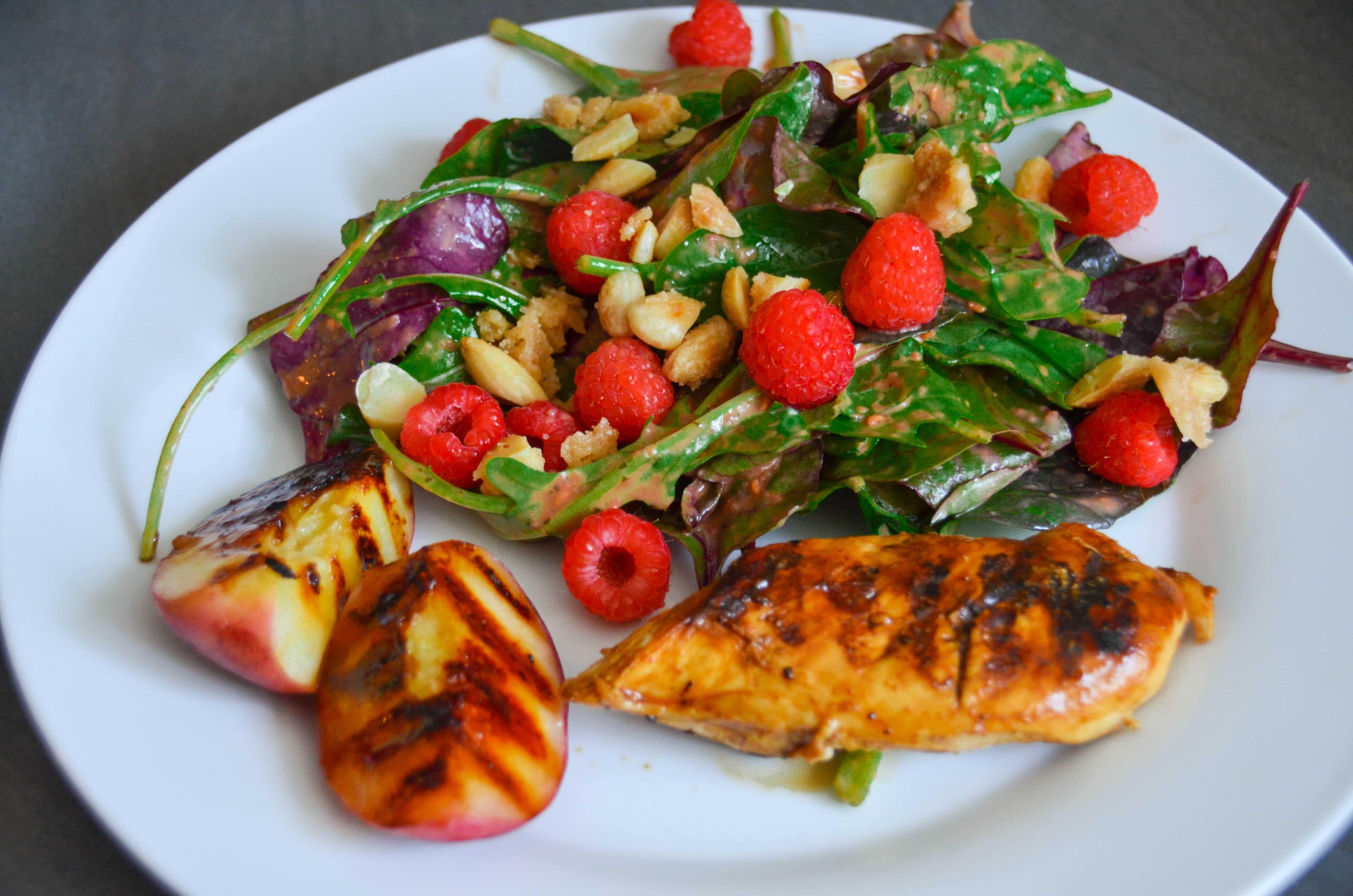 Sommerküche Hähnchen : Leichte küche im sommer sommer salat mit himbeeren hähnchen und