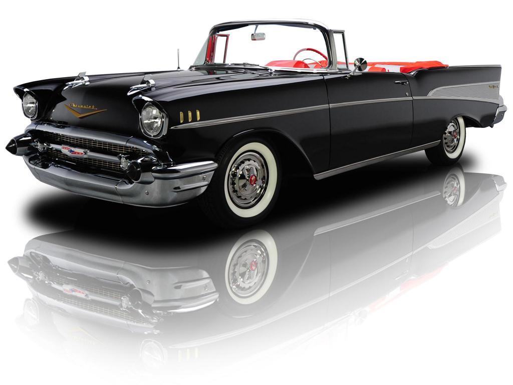Classic Car Wallpaper 57 Chevy Chevrolet Bel Air Convertible 1957 Hd Desktop Wallpaper