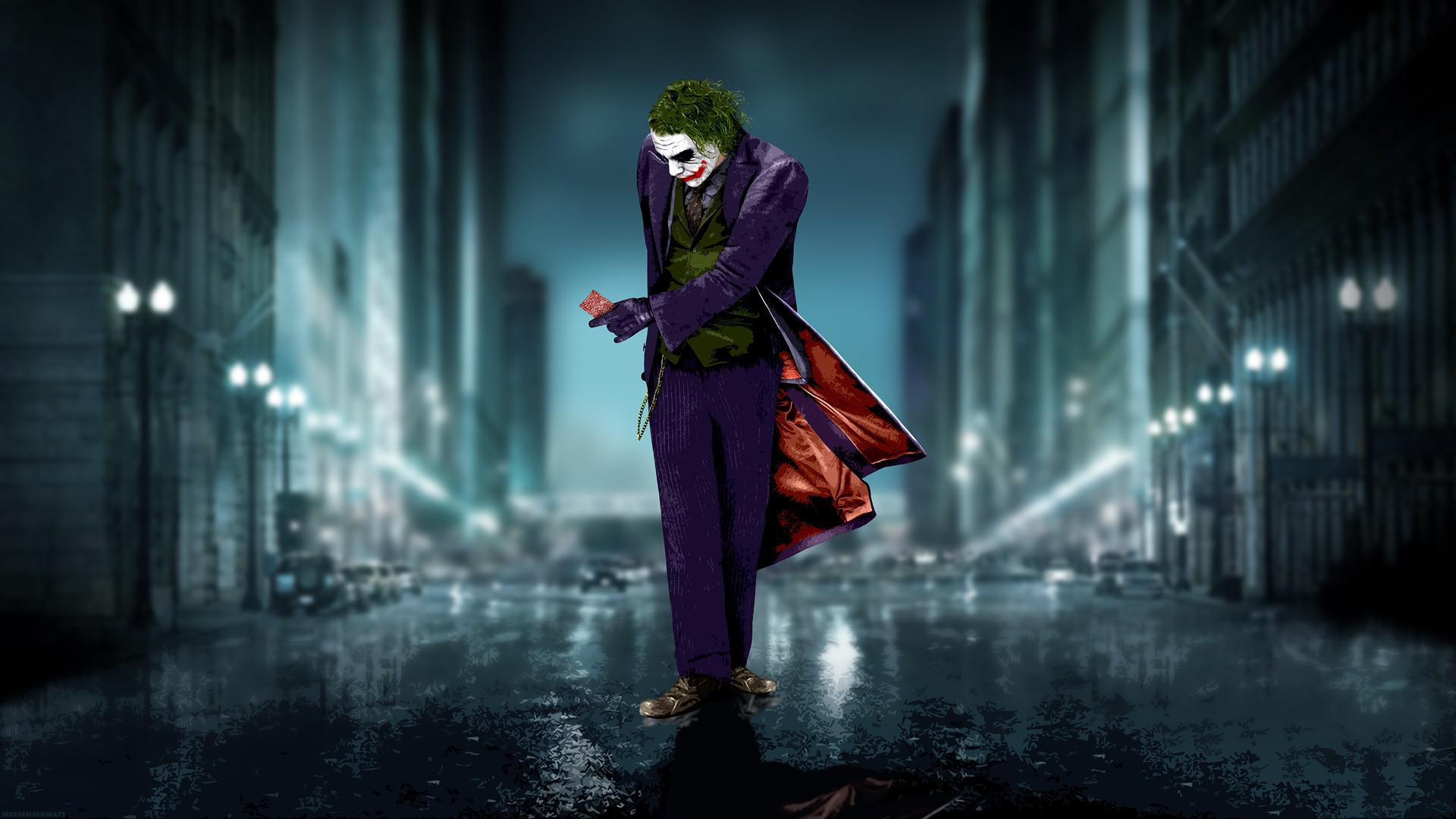 Wallpapers Hd Joker 蝙蝠侠小丑走在路上高清桌面壁纸:宽屏:高清晰度:全屏