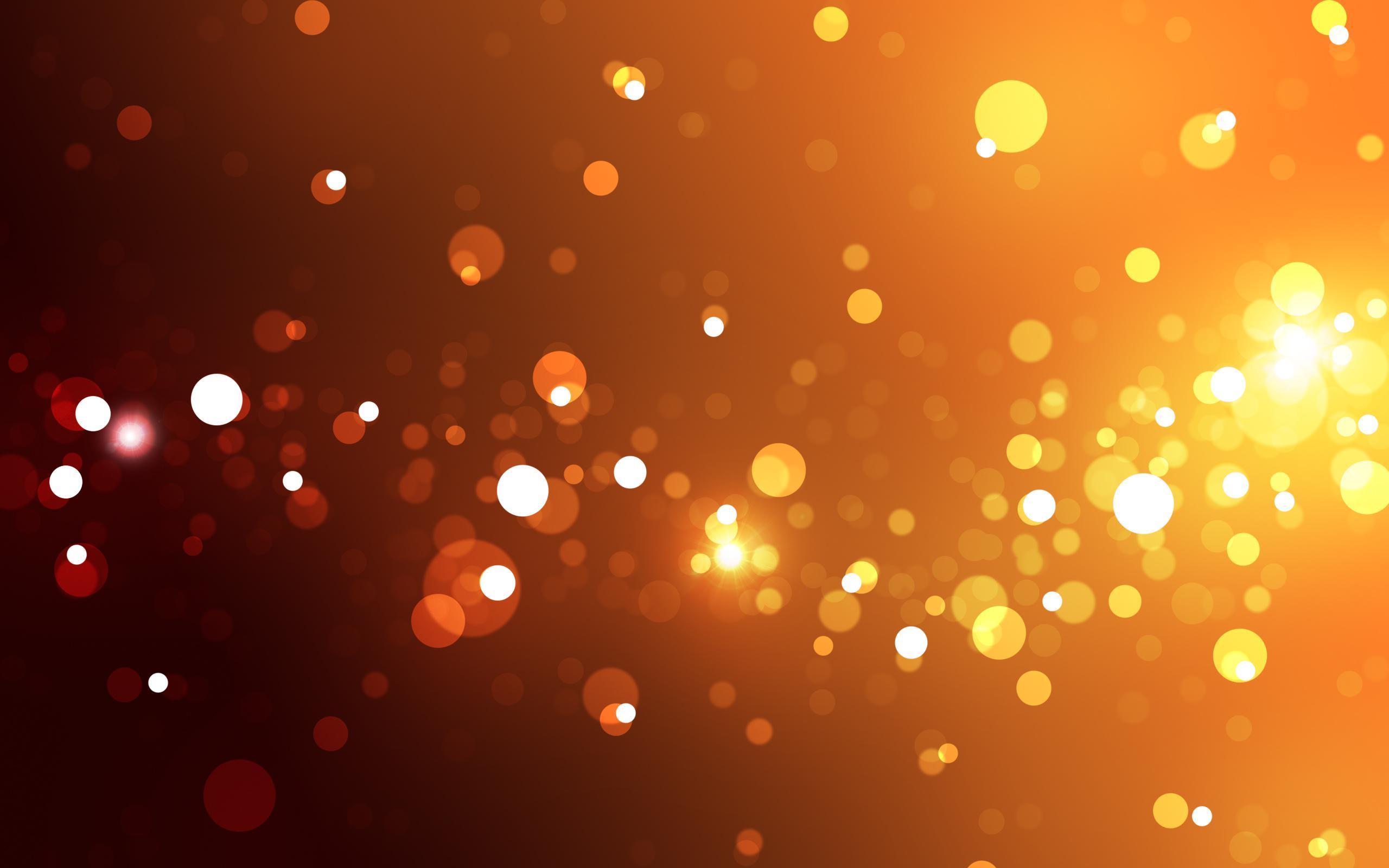Glitter 3d Wallpaper Bokeh Orange Light Hd Desktop Wallpaper Widescreen
