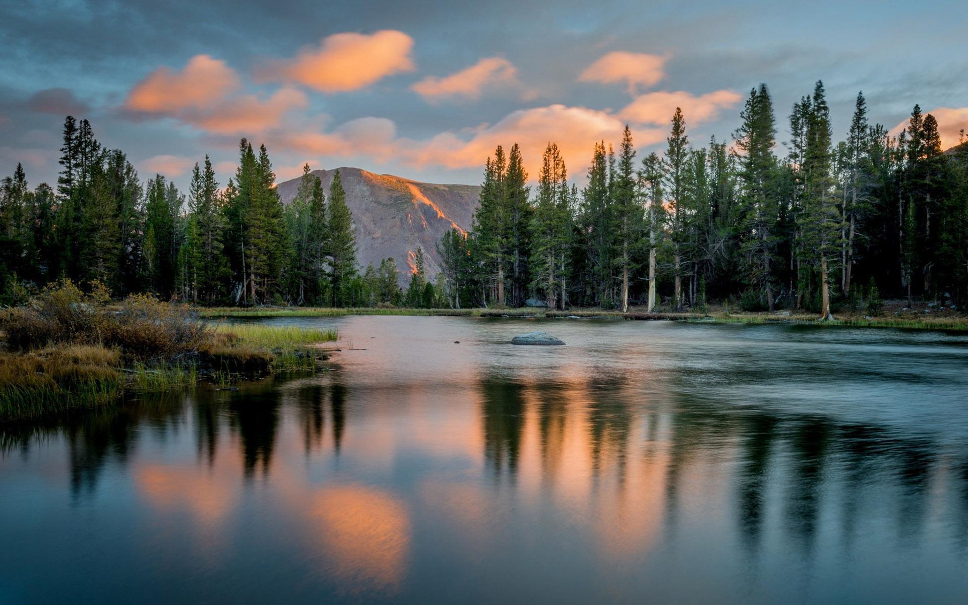 Baby Girl Hd Wallpaper Download Calm Lake After The Sunset Hd Desktop Wallpaper