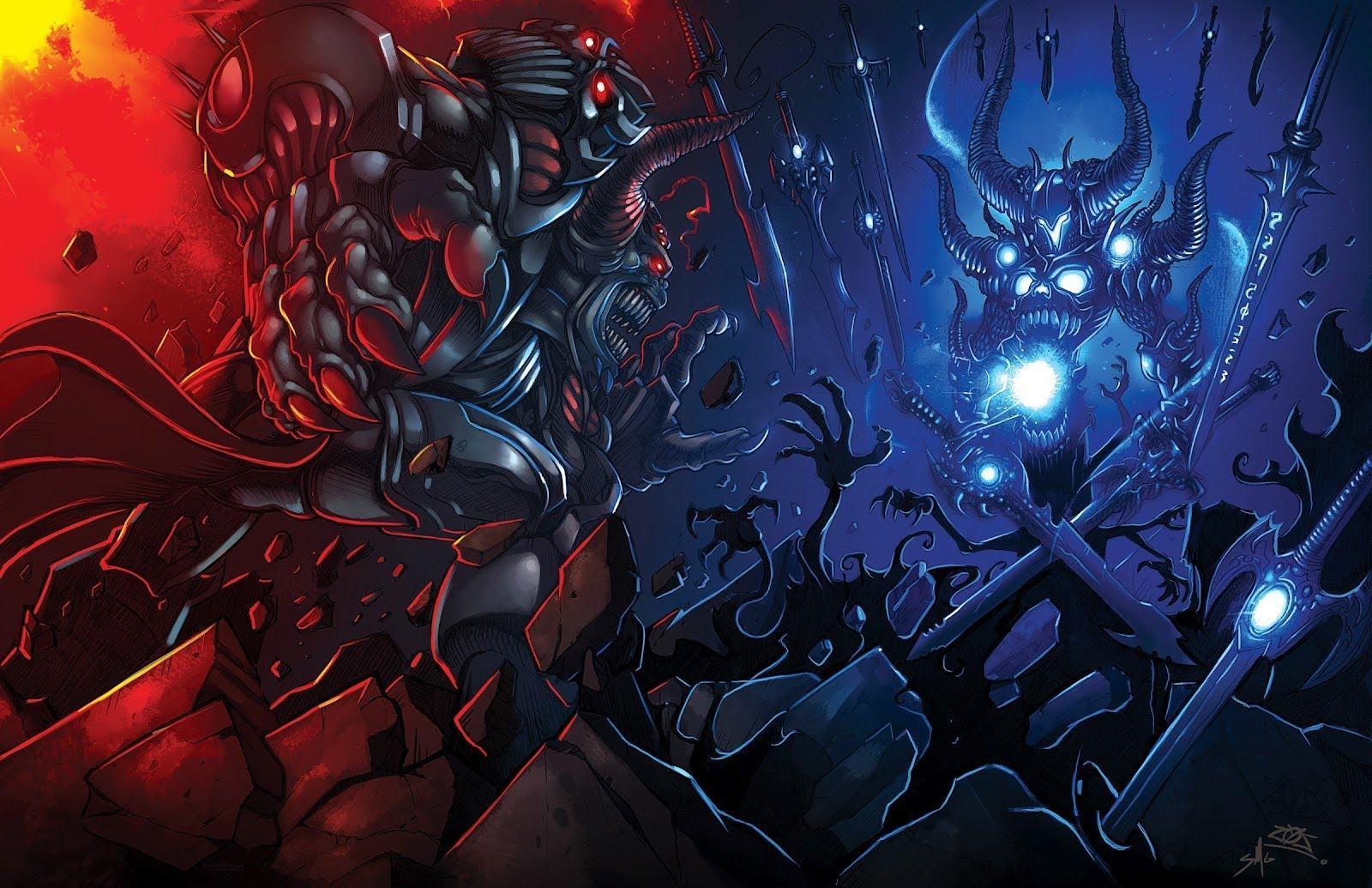 3d Devil Wallpaper Dage The Evil Vs Nulgath Hd Desktop Wallpaper